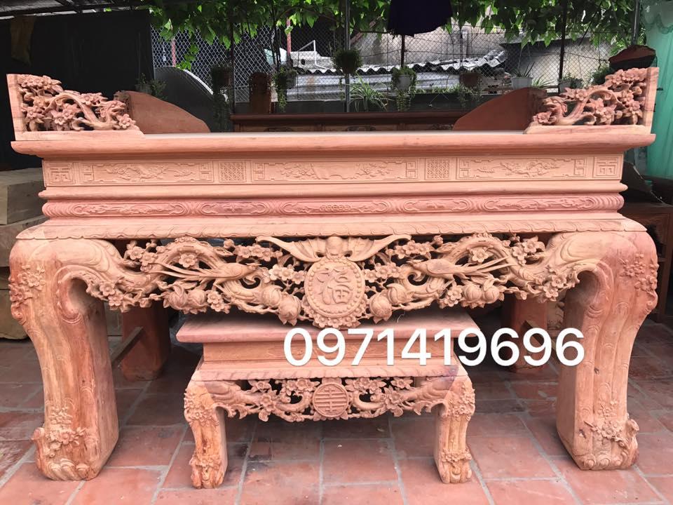 Sập Thờ gỗ Hương Lào