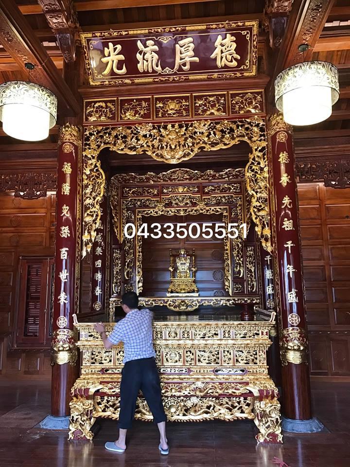 Không gian thờ tư đẹp nhà anh Chuyển ( Bắc Ninh )