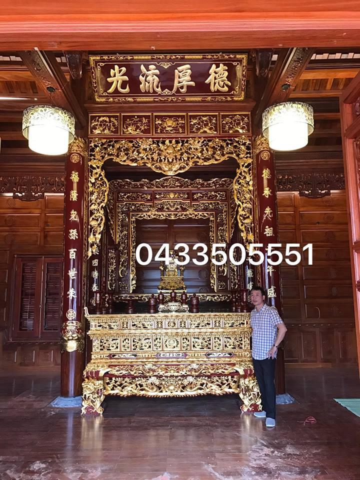 Không gian thờ tư nhà anh Chuyển ( Bắc Ninh ).