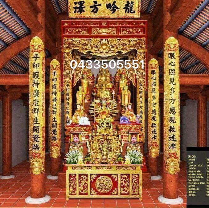 nội thất không gian thờ 045