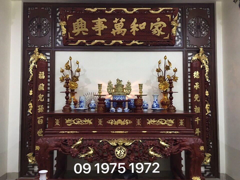 Gian thờ nhà bác Giang ( Giám đốc quản lý nhân sự tập đoàn Viettel )