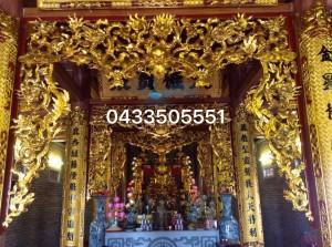 nội thất không gian thờ đình chùa 23